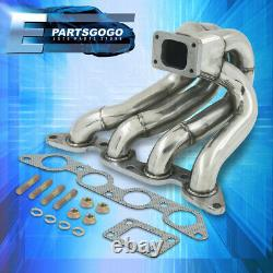Pour 84-87 Toyota Corolla Ae86 1.6l 4age Stainless Steel Turbo Exhaust Manifold