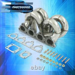 Pour 88-00 Honda CIVIC D15 D16 Série D Jdm Acier Inoxydable Turbo Racing Manifold