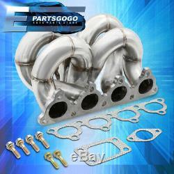 Pour 88-00 Honda CIVIC Performance Turbo T3 En Acier Inoxydable / T4 Collecteur D-series