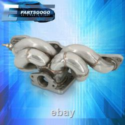 Pour 89-98 240sx S13 S14 Ka24 T3t4 Racing Top Mount Turbo Exhaust Header Manifold