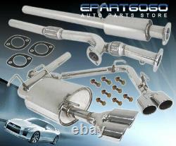 Pour 91-99 Mitsubishi 3000gt Vr4 3 Quad Tip Performance Catback Exhaust System