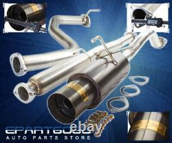 Pour 92-00 CIVIC Ej Em1 2/4dr Stainless Gunmetal Muffler Catback Exhaust System