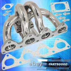 Pour 92-2001 Honda Prelude H22a Bb6 T3/t4 Racing Turbo Manifold Header Exhaust