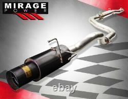 Pour 92-95 CIVIC Eg/96-00 CIVIC Ek 2/4 Dr N1 Gunmetal 3 Catback Exhaust System