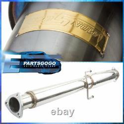 Pour 94-97 Accord 4cyl Cd6 CD LX Ex 2.5 Gunmetal Catback Exhaust System 4.5 Astuce