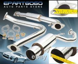 Pour 95-99 Mitsubishi Eclipse Rs Gs 2.0l Non Turbo 4 Tip Catback Muffler