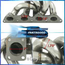Pour 95-99 Mitsubishi Eclipse Talon 4g63 Stainless Td05 Header Turbo Manifold Kit