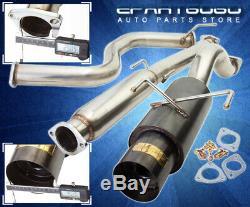 Pour 96-00 Honda CIVIC Ek 3dr 3 Hatchback Gunmetal Style Catback Système D'échappement