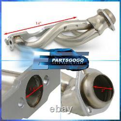 Pour 96-01 Chevy S10 Blazer Sonoma 4.3l V6 En-tête De Course D'échappement En Acier 4wd Manifold