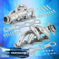 Pour 97-03 F150 F250 Expedition Xlt 4.6l V8 Steel Exhaust Racing Header Manifold