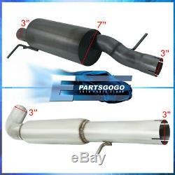 Pour 99-05 Jetta / Golf 1.8t Plein 3 Gunmetal Turboback Catback Système D'échappement
