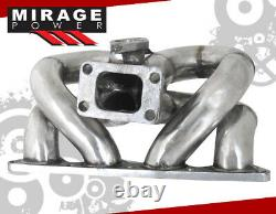 Pour CIVIC Integra B16 B18 B-series Solid Stainless T3t4 Flange Turbo Manifold
