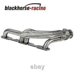 Pour Chevy Gmc 5.0/5.7 V8 C/k Inox Racing Header Exhaust Manifold 88-97