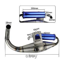 Pour Honda Dio Elite Sym 50 Scooter Perf Racing Exhaust Avec Chambre D'expansion