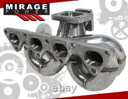Pour Integra CIVIC Del Sol Crx Ram Horn B16 B18 B20 T3t4 Turbo Manifold Wg Flange