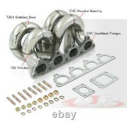 Ram Horn Equal Length T3 Turbo Manifold Pour Honda CIVIC Crx Ek D-series D15 D16