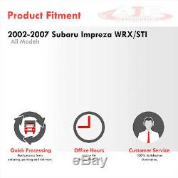 S / S Catback Échappement 4.5 Burnt Silencieux Astuce Pour 2002-2007 Subaru Impreza Wrx Sti
