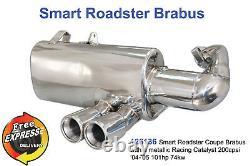 Silencieux D'échappement Performant Pour Smart Roadster 452 Coupe Brabus Avec Racing Cat