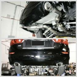 Système De Catback D'échappement De Course Megan & Midpipe Pour 16-20 Infiniti Q50 3.0l Turbo
